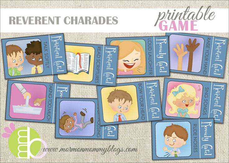 Reverent Charades Free Pritnable Game   Mormon Mommy Printables