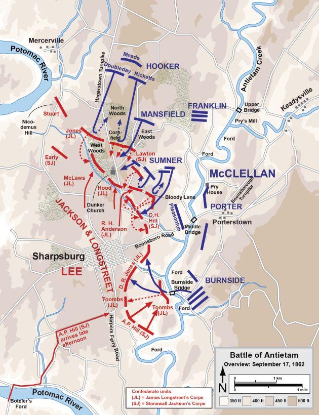 Batalla de Antietam 1862 – Lucha Decisiva de la Guerra Civil de EEUU | elhistoriador.es