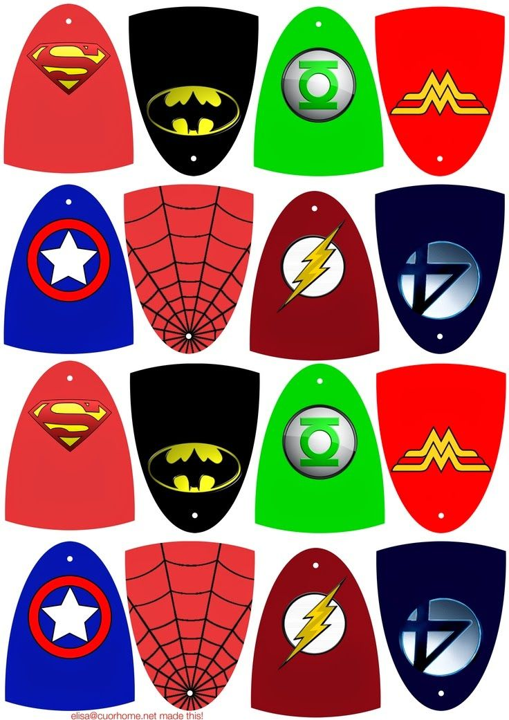 DIY Personalized Superhero Cape Party Favor Tags