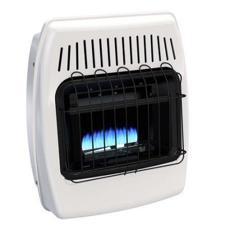 Dyna-Glo BF10NMDG 10,000 BTU Blue Flame Natural Gas Vent Free Wall Heater, White