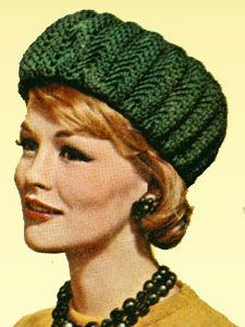NEW! Crocheted Bubble Hat pattern from Hats-Mittens-Socks, Coats & Clark's Book No. 135 from 1962.