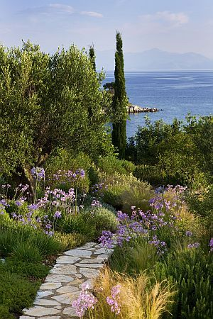 The Gardens at the Kassiopia Estate, North-East Corfu