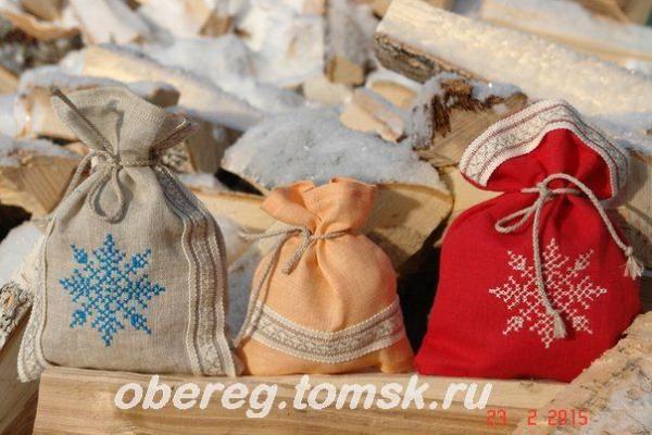 Льняные мешочки для хранения и упаковки ваших подарков   Оберег.томск.ру