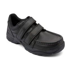 Boys School Shoes: Black Leather Boys Riptape School Shoes http://www.startriteshoes.com/boys-shoes/school-shoes