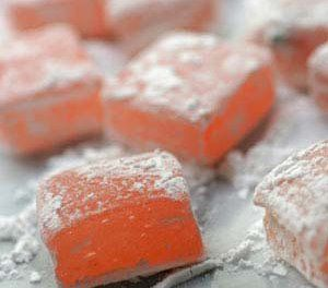 The Geeky Chef-they post recipes for well-known foods from books, movies, video games, TV shows, etc. this is a picture of Turkish Delights from the Chronicles of Narnia.