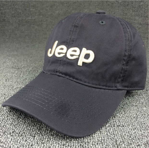 Gray JEEP Embroidered Baseball Cap Hat
