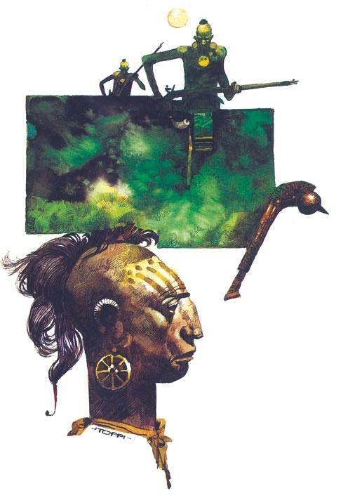 Sergio Toppi, Ticonderoga, Nuages, 2002 #fumetti #disegno #arte