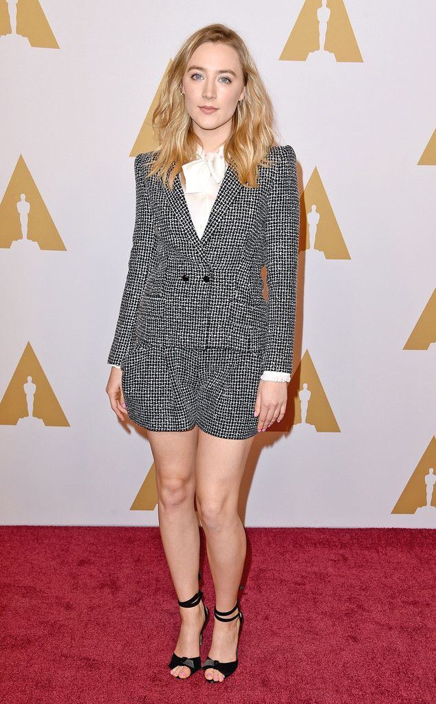 Saoirse Ronan from Oscars 2016: Nominees' Luncheon  The Brooklyn Best Actress nominee keeps it cool with her red carpet style.