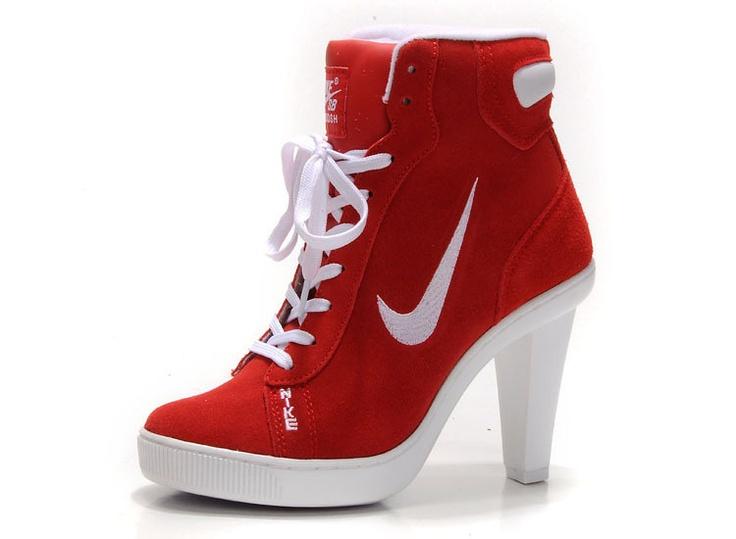 nike dunk hi top block heels for womens black white dunk