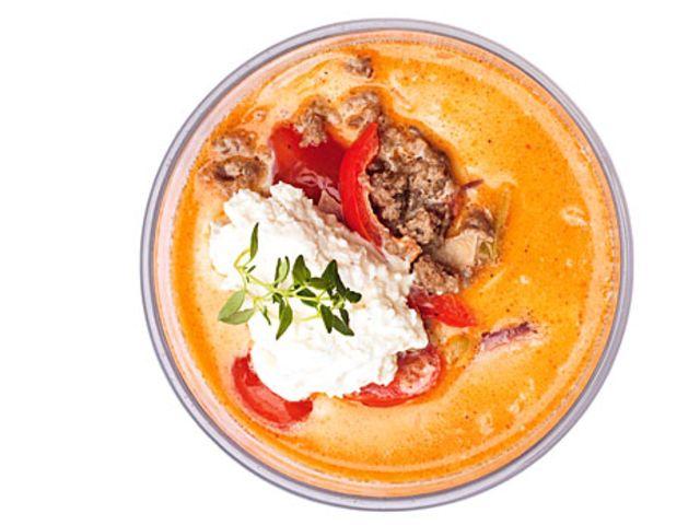 Soppa med köttfärs och ostkräm LCHF