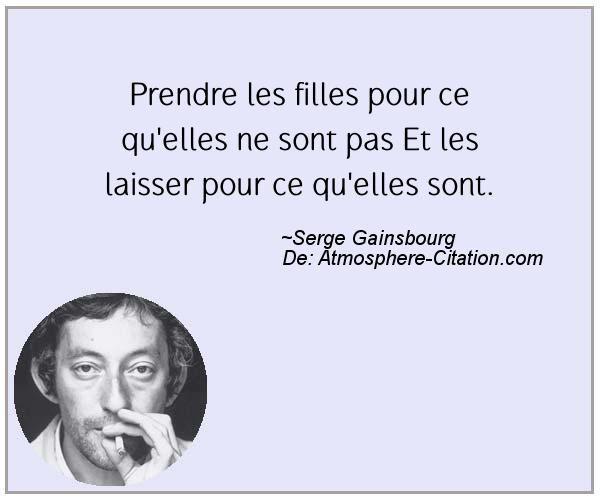 Citation de Serge Gainsbourg – Proverbes Populaires