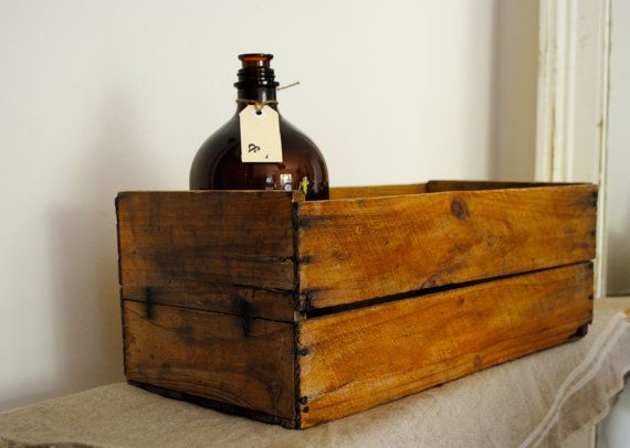 Fabulous VINTAGE rustic wooden fruit box / by acreativelifestyle