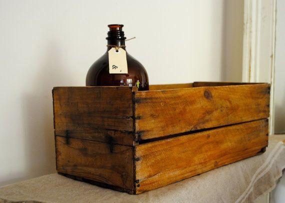 Fabulous VINTAGE rustic wooden fruit box / by acreativelifestyle