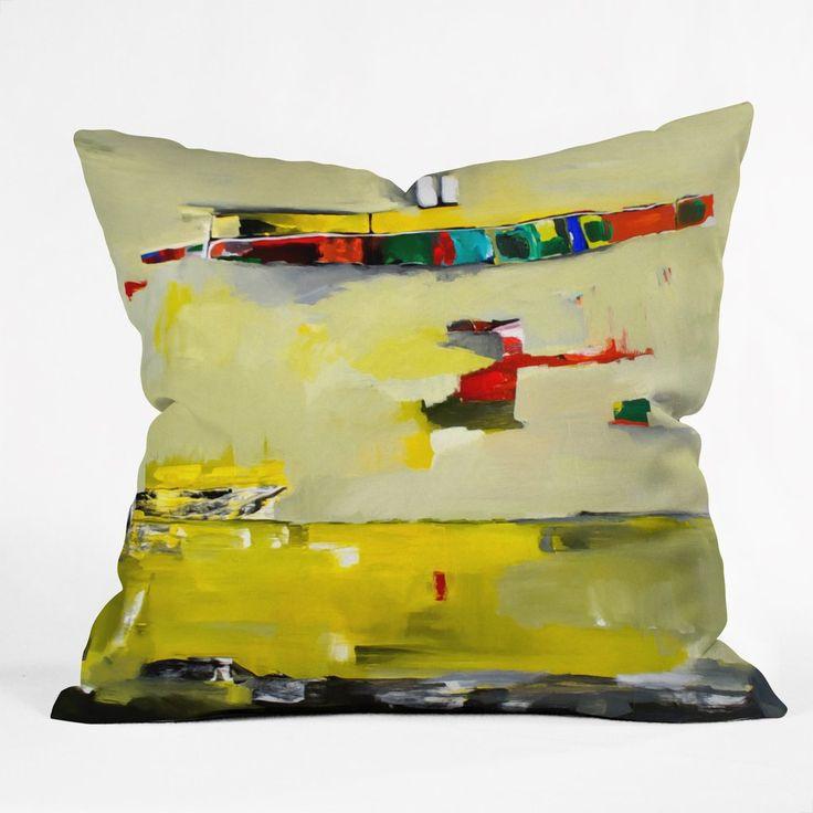Leather Sleeper Sofa Robin Faye Gates Abstract Yellow Throw Pillow