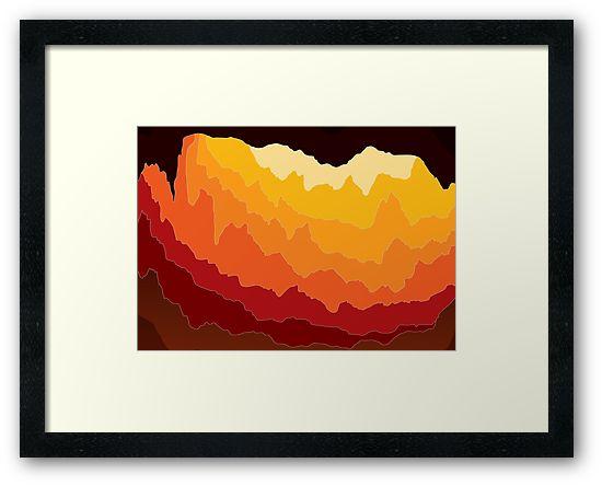 Subterra - abstract framed print