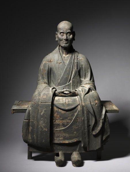 Portrait of the Zen Master Hotto Kokushi (bench), c. 1286 Japan, Kamakura Period (1185-1333)