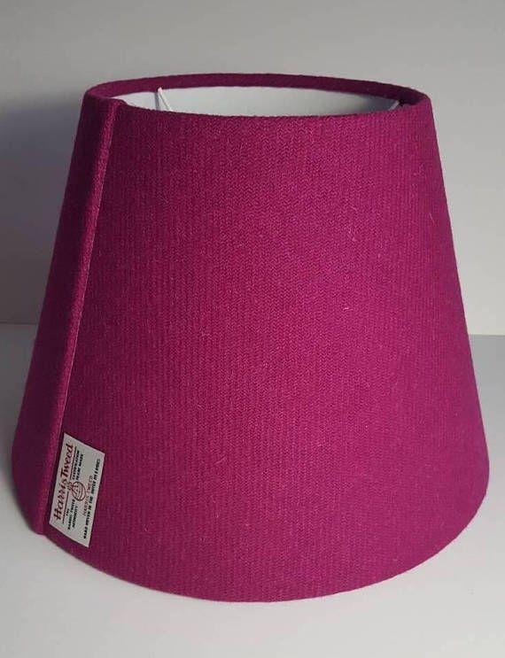 Large Cerise Pink Harris Tweed Empire Lampshade Https Www Etsy Com Uk Listing 579952681 Handmade Harris Tweed E Standard Lamps Handmade Lampshades Handmade