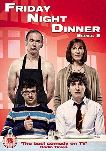 Friday Night Dinner 3 [UK import, region 2 PAL format]:   The award-winning, smash hit comedy is back for a third helping of family mayhem, as brothers Adam and Jonny go back to Mum and Dad's house for an evening of food, fighting, and frozen foxes... In this series, Adam gains a new female admirer - a 9-year-old girl, Jonny gets the world's worst tattoo, Mum practices being a counsellor on her horrified family, Dad paints a hideous portrait of Mum, Grandma goes back out with the terri...