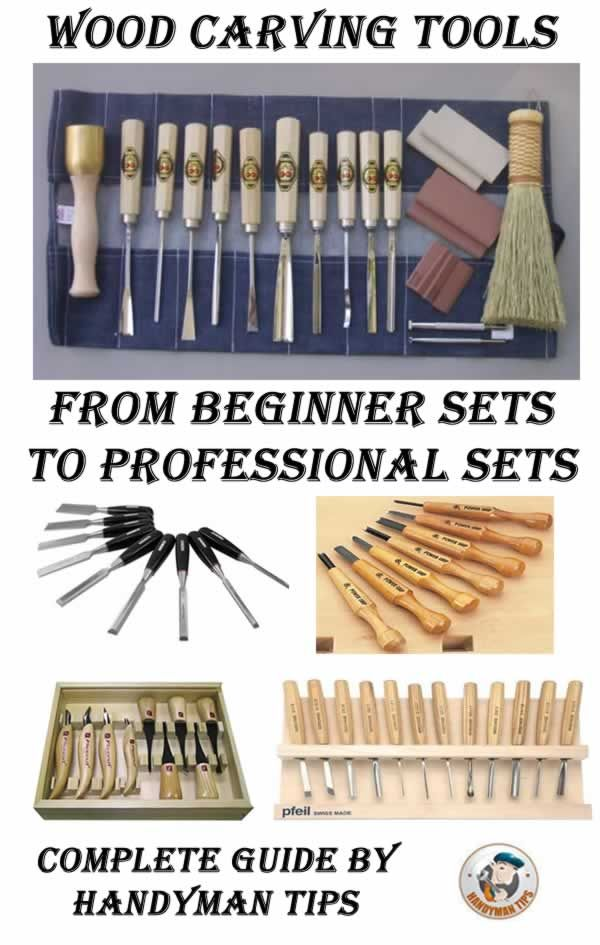 Handyman tips guide through wood carving tools! Learn all about beginner sets and sets for master carvers! Choose the set that suits you best and start carving!                                                                                                                                                                                 More