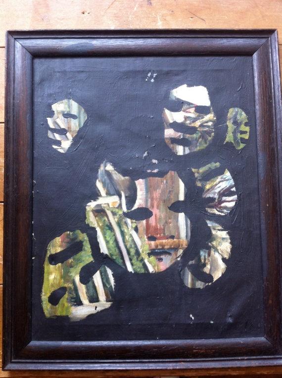 Blackout Painting 1 by JeffreyLouisReed on Etsy, £75.00
