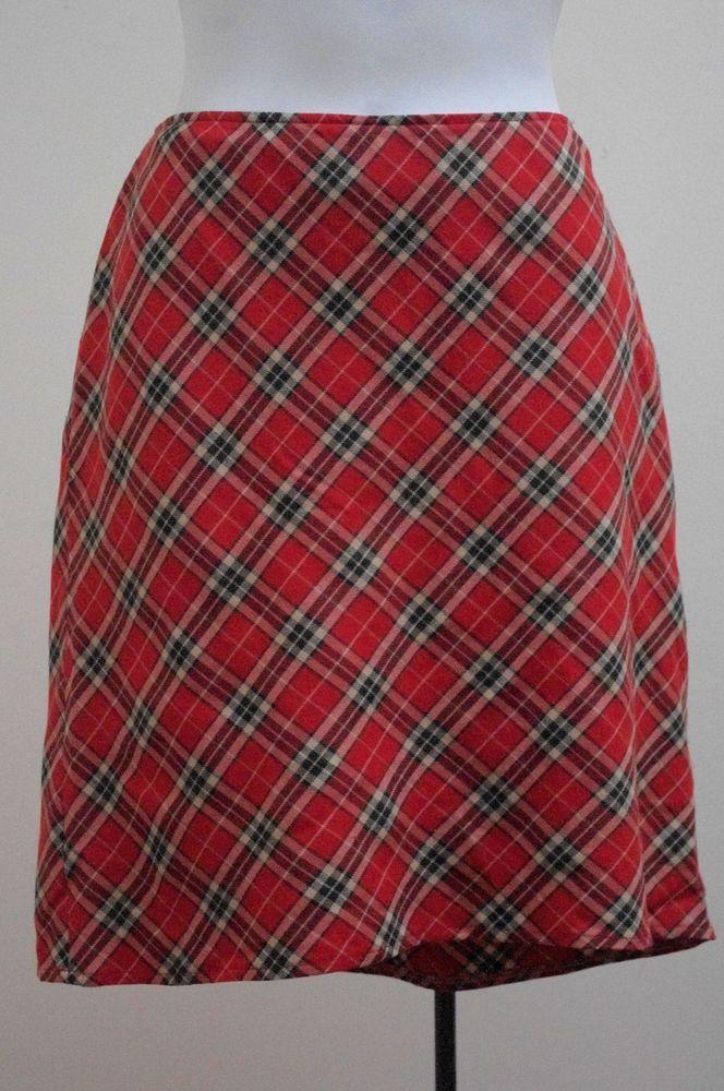69ad8eae1dc416 Motivi 42 US/S Red Plaid A-Line Hi-Lo Skirt #Motivi #ALine #Work #skirt # skirts #coolskirts