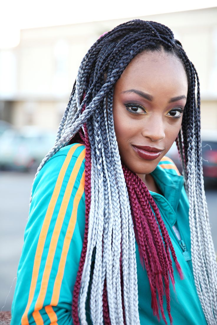 26 Braided Hairstyles For Teens: 26 Best 3S BOX BRAID Images On Pinterest