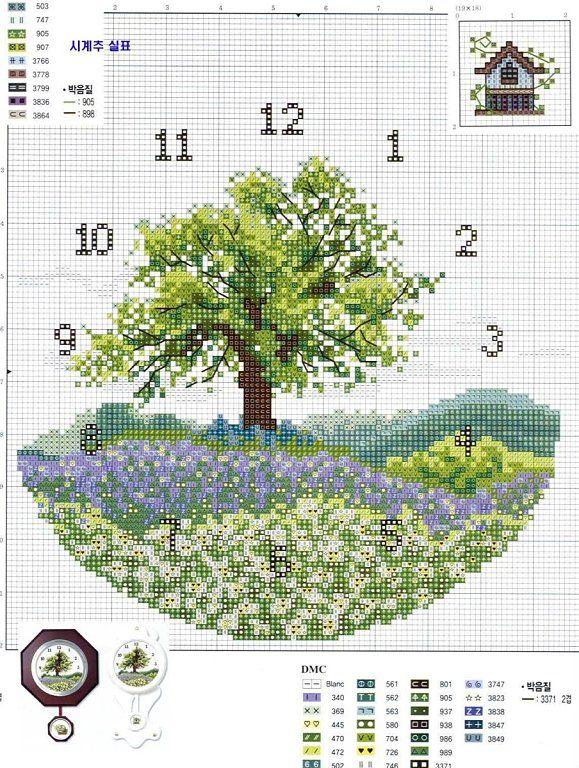 Relojes en punto de cruz (pág. 16) | Aprender manualidades es facilisimo.com
