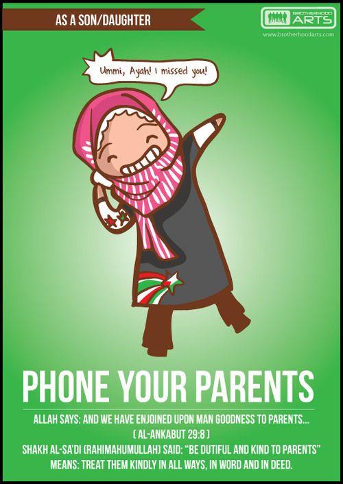 As a son/daughter | Phone your parents  deenify.com