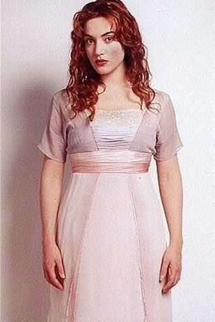 """Titanic! The final dress Kate Winslet wears in the movie is made to look as good wet as it did when dry. 