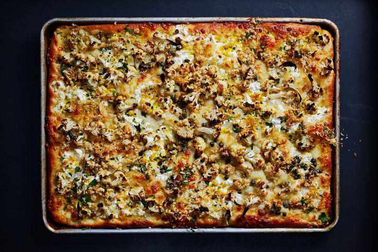 Roasted Cauliflower and Ricotta Grandma Pie Recipe - Bon Appétit