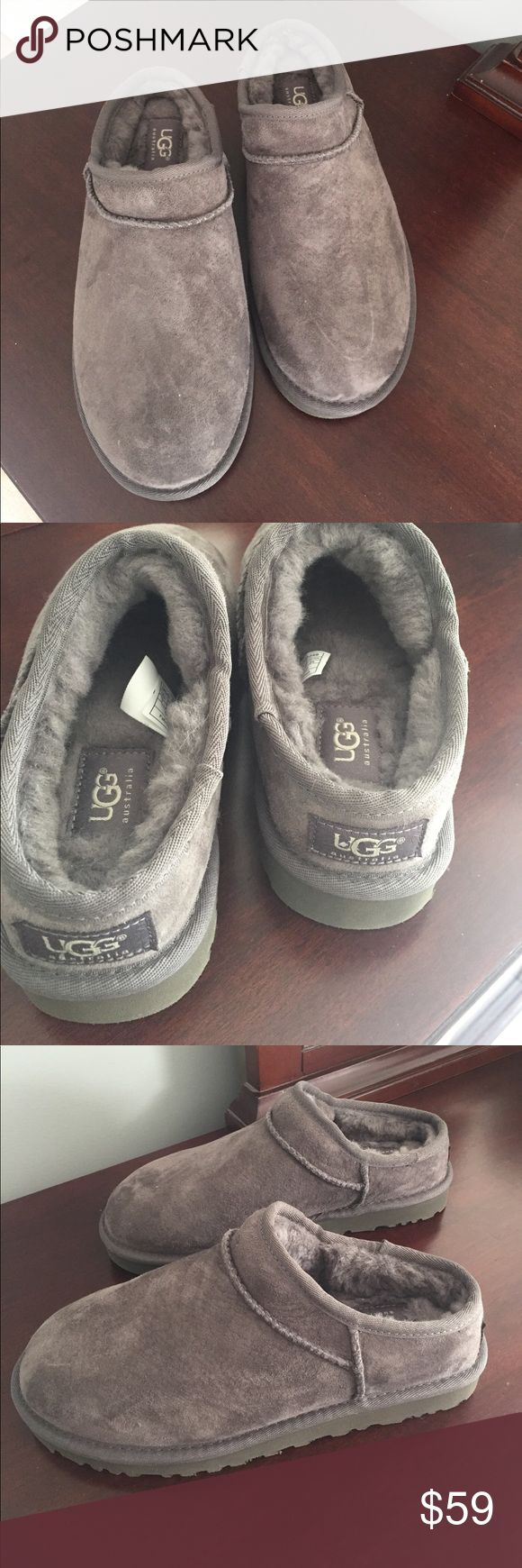 Ugg women's slippers Brand new, never worn women's ugg slippers with fur inside.  Water resistant. UGG Shoes Slippers