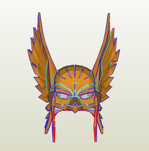 Hawkman - Helmet Pepakura File on Onekura. Make your own costumes and accessories.