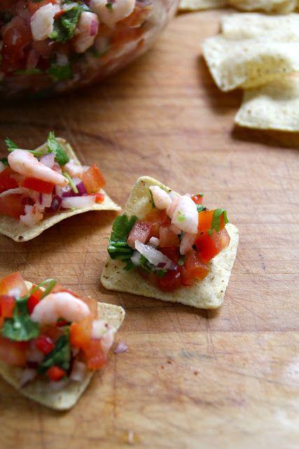 Fingermat – salsa fresca med reker fra @matpaabordet #sjømat #oppskrift