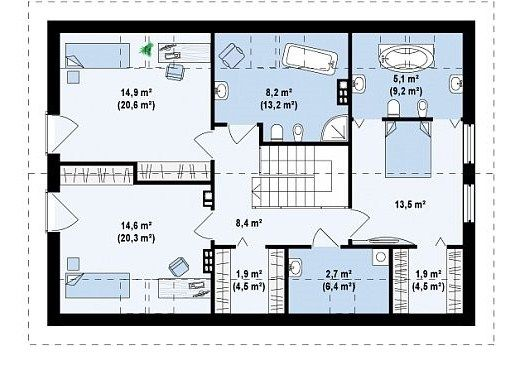 Plano De Casa Moderna De Dos Pisos En 2020 Planos De Casas Plano De Casa Moderna Pisos