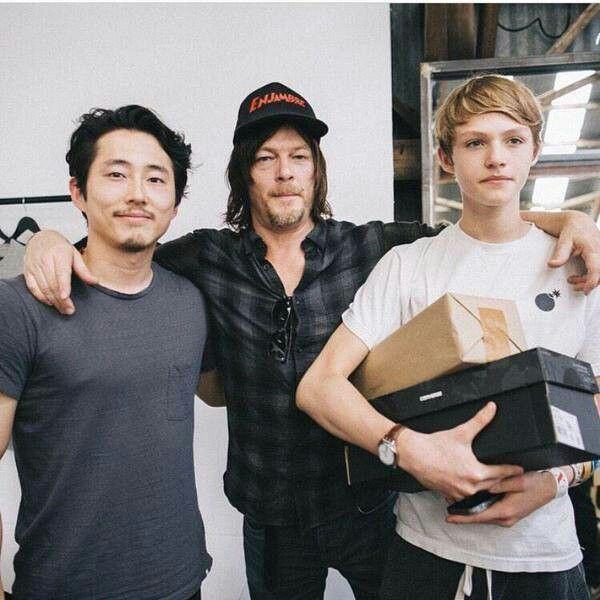 Steven Yeun, Norman Reedus and his son Mingus | Norman ...