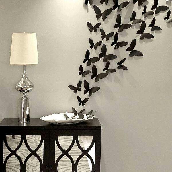 Déco papillons, j'aime l'idée mais pas la réalisation, ils sont trop serré.