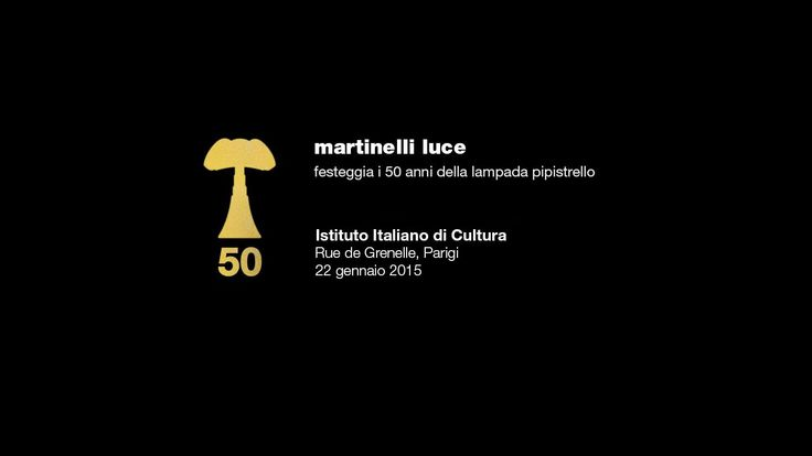 We introduce you a new video about 50th birthday party of Pipistrello lamp @ItalianInstitutOfCulture, Paris http://pipistrello.martinelliluce.it/