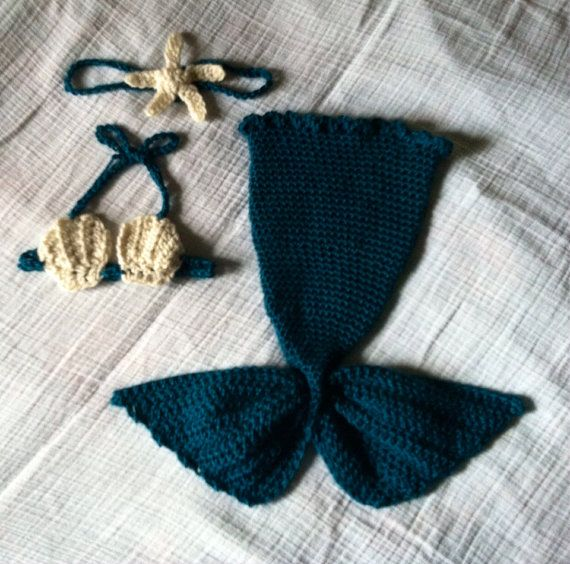 Baby mermaid costume by EnglishHouseCrafts on Etsy, $30.00