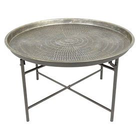 Charming Picture Of Round Metal Coffee Table