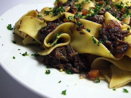 Beef Ragu Papardelle with Gremolata