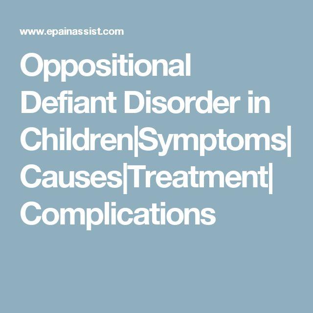 oppositional defiant disorder essay