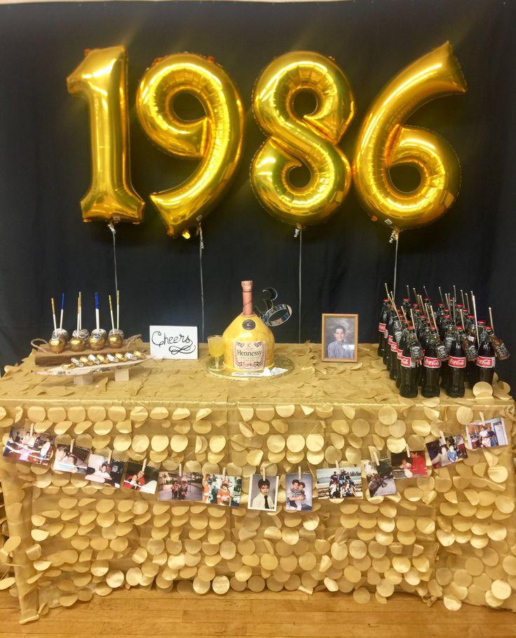 Male 30th birthday ideas. Black and gold Birthday