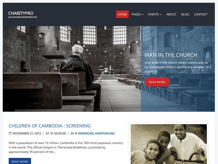 Charity Review — Free WordPress Themes