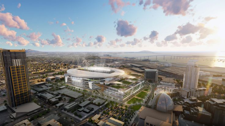 Chargers stadium/convention center photos : See the San Diego Chargers' stunning proposed stadium/convention center