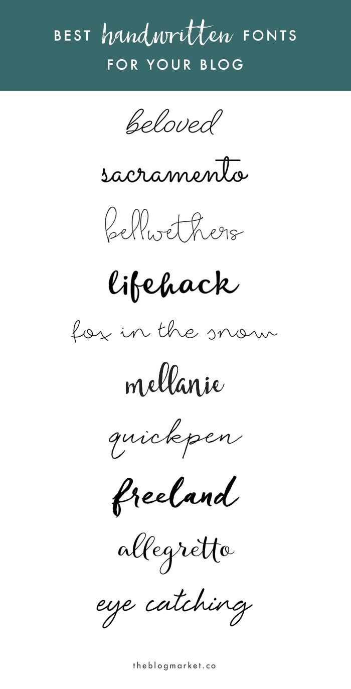 Best Handwritten Fonts For Your Blog | The Blog Market
