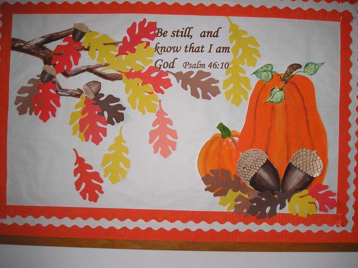 Church bulletin board for fall