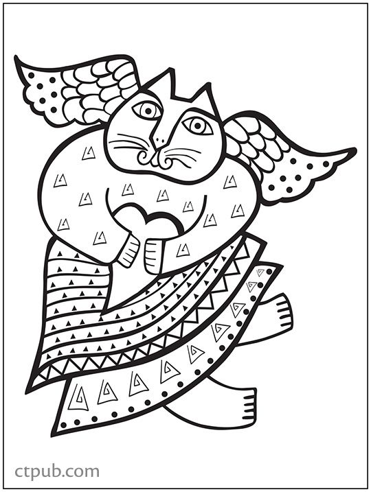 The Art Of Laurel Burch Coloring Postcard Book 20 Iconic Designs Featuring By