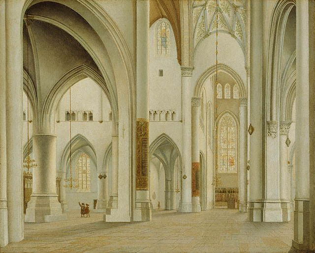 The Interior of St. Bavo, Haarlem, 1628 Pieter Jansz. Saenredam