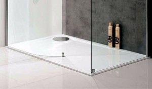 Choose a slim shower tray for a minimalist bathroom