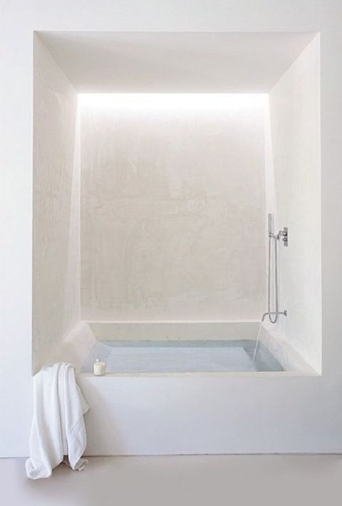 | INTERIOR + BATHROOMS | integrated bath tubs with recessed cove lighting for ambient lighting when relaxing for a hot bath